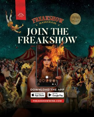 Join the Freakshow says new AR wine label app!