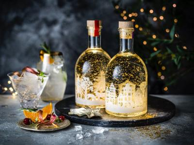 Liqueur bottle lights up Christmas festivities
